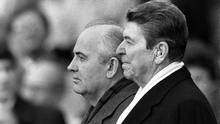 Idealists of the 1980s: Mikhail Gorbachev and Ronald Reagan. (Jose R. Lopez/The New York Times)
