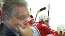 File - Canada's head coach Wayne Flemming follows the match against Italy during their men's Ice Hockey World Championship in Hanover April 30, 2001. The Canadian team won their preliminary group D match against Italy 3-1. REUTERS/Fabrizio Bensch (Fabrizio Bensch/Reuters)