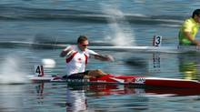 Canada's Mark de Jonge competes in the men's kayak single (K1) 200m heat at the Eton Dorney during the London 2012 Olympic Games August 10, 2012. (JIM YOUNG/REUTERS)