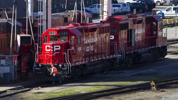 The Canadian Pacific railyard is pictured in Port Coquitlam, B.C., in this file photo from Feb. 15, 2015. (BEN NELMS/REUTERS)