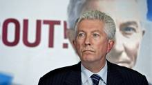 Bloc Quebecois Leader Gilles Duceppe holds a news conference in Bois-des-Filions, Que., on Sept. 2, 2009. (Paul Chiasson/The Canadian Press)