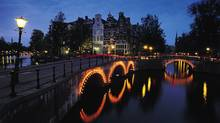 Amsterdam's canals are seen at dusk on this undated handout photo. (ho/CP)