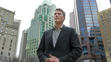 Vancouver mayor Gregor Robertson stands near the Vancouver Art Gallery December 7, 2012. (Jeff Vinnick For The Globe and Mail)