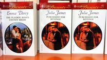 Harlequin novels are pictured at a store in 2006. (Louie Palu/The Globe and Mail)
