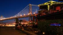 One of the many extraordinary places to take in the Bay Lights is at Waterbar, found at the base of the Bay Bridge. (Waterbar)