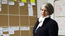 """Kirsten Forbes, Chief Operating Officer(COO) and co-founder of Vancouver-based Silicon Sisters Interactive, poses for a portrait in the company's """"war room"""" Tuesday, January 31, 2012. (Rafal Gerszak/Rafal Gerszak for The Globe and Mail)"""