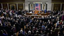 House Speaker John Boehner swears in members of the 113th Congress in Washington, Jan. 3, 2013. (STEPHEN CROWLEY/New York Times)