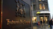 Hudson's Bay Co. shares surged Monday after the retailer said it would launch a real estate investment trust off of its proposed $2.9-billion (U.S.) purchase of Saks Inc. (FRED LUM/THE GLOBE AND MAIL)