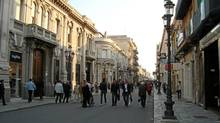 A view of Reggio Calabria's pedestrian-only Corso Garibaldi shopping strip and venue for the daily evening passeggiata, or stroll. (Estanislao Oziewicz/The Globe and Mail)