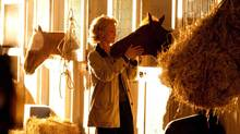 Diane Lane with her costar in a scene from Secretariat (John Bramley/Disney)