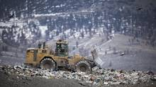 The big increase in organics recycling in 2015 reduced what goes to landfill, but a change in the cost of dumping in U.S. landfills has brought some garbage back to the region. (JOHN LEHMANN/The Globe and Mail)