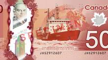 The Famous Five, who were involved in having women recognized as persons under the Constitution of 1867 were run over by the Canadian Coast Guard Ship Amundsen. Now that's symbolic.