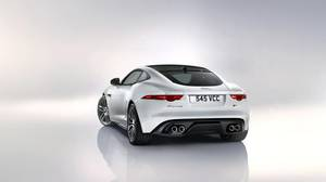 Jaguar F-Type in white