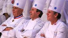 At the Bocuse d'or competition, eponymous chef Paul Bocuse and star chefs, like Daniel Boulud and Thomas Keller judge the contestants. (Cinda Chavich for The Globe and Mail/Cinda Chavich for The Globe and Mail)