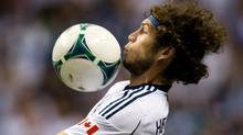 Vancouver Whitecaps' Tom Heinemann gains control of the ball during first half MLS soccer game action against Real Salt Lake in Vancouver, B.C., on Saturday September 28, 2013. (DARRYL DYCK/THE CANADIAN PRESS)