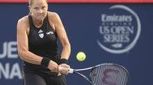 Shelby Rogers of the United States, shown in action against Eugenie Bouchard Aug. 5, will face Caroline Wozniacki of Denmark in the third round of the Rogers Cup. (Jean-Yves Ahern/USA Today Sports)