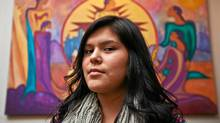 Chelsea Edwards, a 16-year-old student, moved 300 kilometres from her home in the tiny community of Attawapiskat to Timmins, Ontario in order to receive a better education. She is seen in Toronto at the Native Canadian Centre on November 17, 2011. (JENNIFER ROBERTS/Jennifer Roberts for The Globe and Mail)