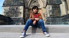Adam Ahmed, 7, of Markham, Ont., poses for a photo on Parliament Hill in Ottawa on Tuesday, Nov. 8, 2016. Ahmed has been repeatedly flagged at the airport because his name matches one on a security list. (Sean Kilpatrick/THE CANADIAN PRESS)