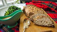 Haggis meatloaf with sauteed kale and whisky sauce makes a great Robbie Burns Night dinner. (JENNIFER ROBERTS for The Globe and Mail/Jennifer Roberts for The Globe and Mail)