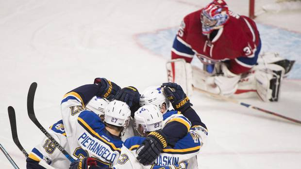 Berglund Hat-trick Lifts Blues To 4-2 Win Over Canadiens