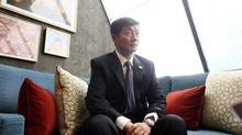 Lobsang Sangay, leader of the Tibetan government-in-exile, is calling on Ottawa's religious freedom envoy to visit Tibet. (Dave Chan For The Globe and Mail)