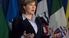 Alberta has unresolved pipeline issues with British Columbia, whose Premier, Christy Clark, has demanded unspecified financial benefits for the province. (Andrew Vaughan/THE CANADIAN PRESS)