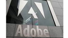 An exterior view of the Adobe Systems Inc. headquarters in San Jose, Calif. (PAUL SAKUMA/AP)