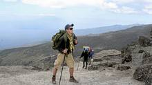 Officer Cadet Anthony Matlock is shown ascending Mount Kilimanjaro in January 2012. Royal Military College students have just climbed Mt Kilimanjaro to raise money to support former child soldiers.
