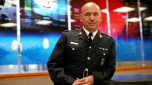 Newly appointed RCMP Commissioner Bob Paulson stands in the Mounties' headquarters in Ottawa on Nov. 16. (Dave Chan for The Globe and Mail)