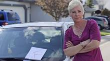 After failing an online written test, Lisa Monforton didn't do any better in a mock driving test.