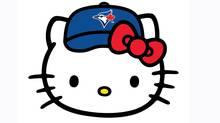 Hello Kitty has teamed up with Major League Baseball. All 30 MLB teams, including the Blue Jays, will be selling co-branded products including Hello Kitty baseballs and mobile phone covers. (Sanrio Inc.)