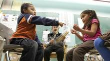 Students play at Chief Atahm School in Chase, B.C. on Wednesday November 17, 2010. (Jeff Bassett/For The Globe and Mail/Jeff Bassett/For The Globe and Mail)