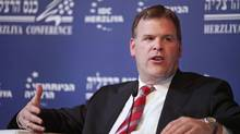 Canadian Foreign Minister John Baird takes part at a panel discussion during the Herziliya Conference. Wednesday, Feb. 1, 2012, in Herzliya, Israel. (Dan Balilty/AP/Dan Balilty/AP)
