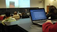 An increasing number of university professors are banning the use of laptops during class to improve students' ability to learn. (Fred Lum/The Globe and Mail)