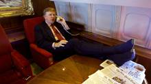 Donald Trump in his private jet (RICHARD DREW)