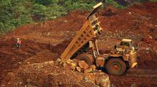 A general view of the digging of raw nickel ore near Sorowako, Indonesia's Sulawesi island, January 8, 2014. (YUSUF AHMAD/REUTERS)