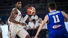 R.J. Barrett, left, in action against Italy on Sunday during the FIBA under-19 Basketball World Cup final in Cairo. (fiba.com)
