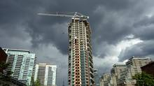 Condominium development in the Liberty Village area of Toronto on June 25, 2013. (Peter Power/The Globe and Mail)