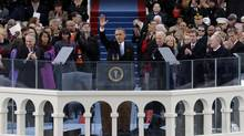 President Barack Obama included an unexpected declaration of support for gay rights in his inauguration speech. (Scott Andrews/AP)