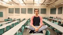 Jeffery Haga, a second-year student at the University of Ottawa, says his favourite class is taught by a professor who conversationally weaves in examples and background. (Dave Chan for The Globe and Mail)