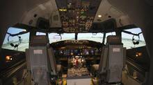 A CAE simulator of a Hainan Airlines B737-800W. (Christinne Muschi For The Globe and Mail)