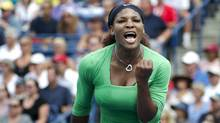 Serena Williams of the United States celebrates a point against Samantha Stosur of Australia during Rogers Cup Final at the Rexall Centre at York University in Toronto. (Kevin Van Paassen/Kevin Van Paassen/The Globe and Mail)