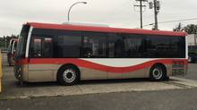 Grande West Transportation International Ltd. has developed a new bus called the Vicinity. At 30 and 35 feet long, it's smaller than standard buses, which are typically 40 feet, or even 60 in the case of articulate vehicles. (GRANDE WEST)