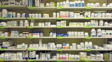 Shelves of various drugs and medication at the Toronto General Hospital's pharmacy. There's a push on to implement at national drug plan which should result in lower drug cost for patients. (Fred Lum/The Globe and Mail/Fred Lum/The Globe and Mail)