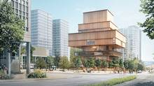 The proposed design for a new Vancouver Art Gallery building by Swiss architecture firm Herzog & de Meuron.