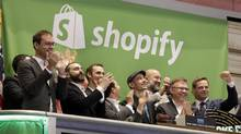 Few homegrown Canadian startups end up making it to an IPO, as Shopify did, before selling to an American company. (Richard Drew/AP)