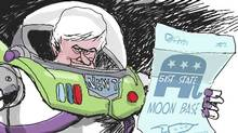Today's topics: Lunar destiny, Ontario's finances, 1812 revisited, Vatican head gear … and more (Brian Gable/The Globe and Mail)