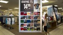 A graphic t-shirts on display at the Sears Canada store at Upper Canada Mall store in Newmarket, Ont. (Peter Power/Peter Power/The Globe and Mail)