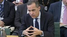 Mark Carney, the next governor of the Bank of England, answers questions from a parliamentary committee in the Houses of Parliament in central London. (HANDOUT/Reuters)