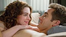 """Anne Hathaway and Jake Gyllenhaal in """"Love and Other Drugs"""": The actors waived the no-nudity clause but had a say over the final cut. (David James)"""